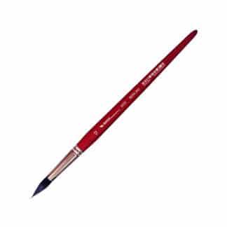 Кисточка «Автор» 5072 Белка имитация круглая №12 короткая ручка красная АртАвангард