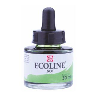 Акварельная краска жидкая Ecoline 601 Зеленый светлый 30 мл с пипеткой