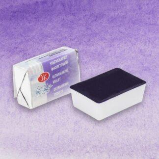Акварельная краска Белые ночи 2,5 мл 613 Ультрамарин фиолетовый ЗХК «Невская палитра»