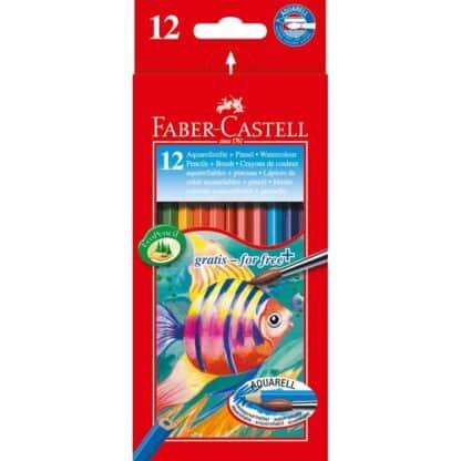 Набор акварельных карандашей 12 цветов в картонной коробке Faber-Castell