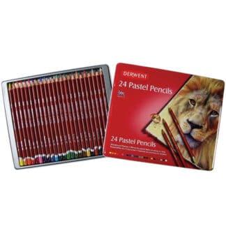 Набор пастельных карандашей Pastel Pencils 24 цвета в металлической коробке Derwent