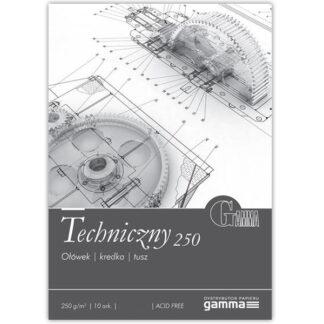 TEC2942К10  Склейка для рисунка Gamma 29,7х42 см гладкий белый 10 листов 250 гр/м2, проклейка