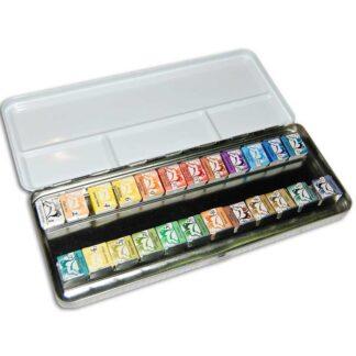Подарочный набор акварельных красок 24 кюв. 1,5 мл  метал. коробка  Renesans