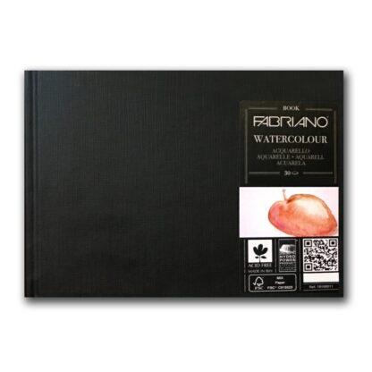 19100012 Альбом для акварели Watercolour Book А4 (21х29,7 см) 200 г/м.кв. 30 листов в книжном переплете Fabriano Италия