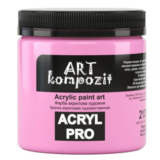 Акриловая краска 213 Розовый основной 430 мл Kompozit