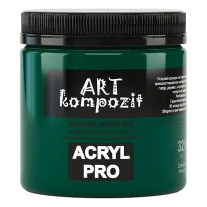 Акриловая краска 321 Зеленый ФЦ 430 мл Kompozit