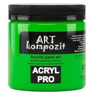 Акриловая краска 323 Желто-зеленый 430 мл Kompozit