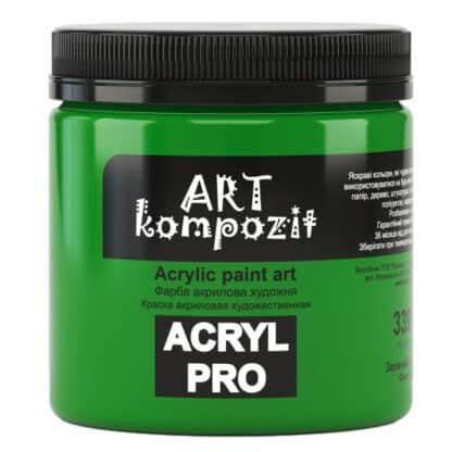 Акриловая краска 339 Зеленый светлый 430 мл Kompozit