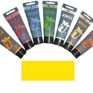 Акриловая краска 75 мл 023 желтая средняя Van Pure