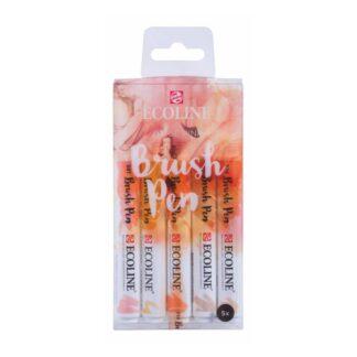 Набор кистей-ручек Ecoline Brushpen BEIGE PINK 5 цв. Royal Talens