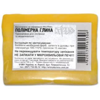 Полимерная глина светло-желтая 100 г «Трек» Украина