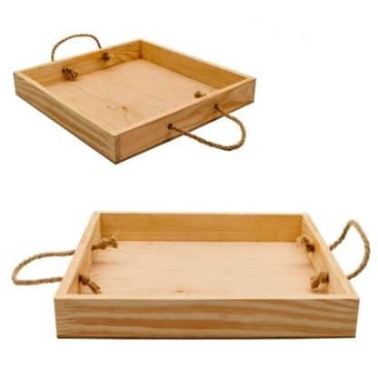 Заготовка деревянная Поднос деревянный 300х300х40 мм Rosa Talent