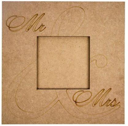 Заготовка деревянная «Рамка  Mr&Mrs»  40х40 см МДФ Rosa Talent