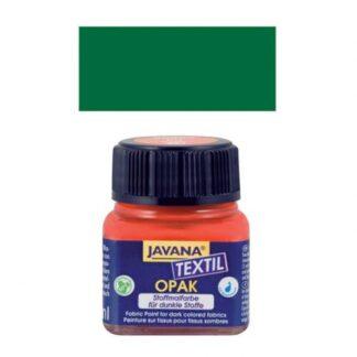 Краска по тканям и коже прочная нерастекающаяся KR-90965 Зеленый темный 20 мл Opak Javana C.KREUL