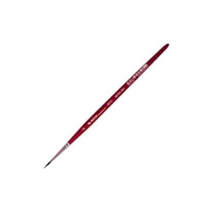 Кисточка «Автор» 5072 Белка имитация круглая №02 короткая ручка красная АртАвангард