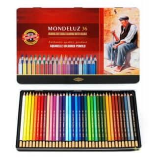Набор акварельных карандашей Mondeluz 36 цветов в металлической коробке Koh-i-Noor