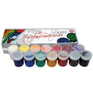 Набор гуашевых красок 14 цветов по 40 мл Van Pure