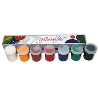 Набор гуашевых красок 7 цветов по 40 мл Van Pure