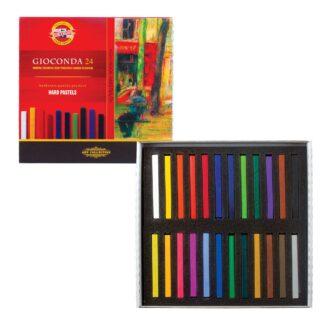 Мел-пастель твердая Gioconda 24 цвета Koh-i-Noor