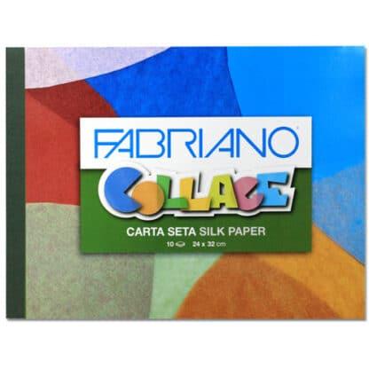 44422003 Альбом для творчества Collage Carta Seta silk paper 24х32 см 10 листов Fabriano Италия