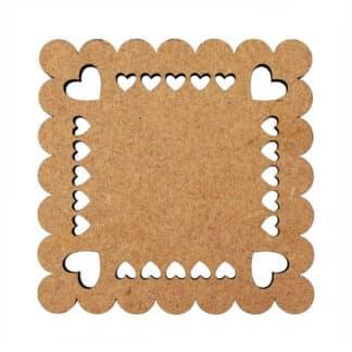 Заготовка деревянная Набор подставок для чашек «LOVE 1» 2 шт. 100х100 мм МДФ Rosa Talent