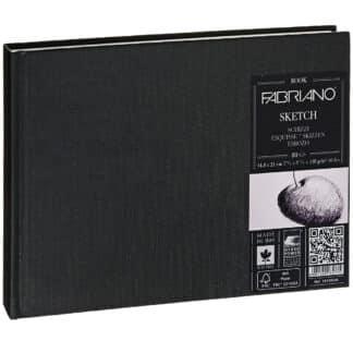 19100004 Альбом для эскизов Sketch Book А5 (14,8х21 см) 110 г/м.кв. 80 листов в переплете по короткой стороне Fabriano Италия