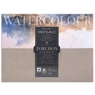 19100278 Альбом для акварели Watercolour Torchon Extra Rough 35,5х51 см 300 г/м.кв. 20 листов Fabriano Италия