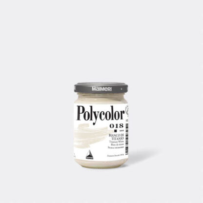Акриловая краска Polycolor 140 мл 018 белила титановые Maimeri Италия