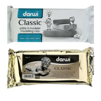 Самозатвердевающая маса Darwi Classic 1 кг белая DR-DA0801000000