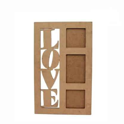 Заготовка деревянная Рамка «LOVE 1» 355х355 мм МДФ Rosa Talent