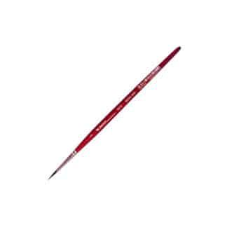 Кисточка «Автор» 5072 Белка имитация круглая №03 короткая ручка красная АртАвангард