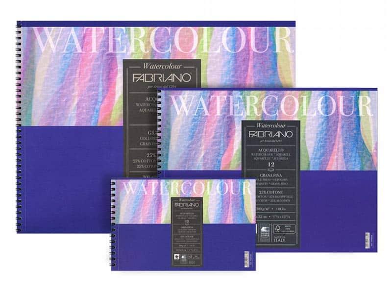 Альбомы для акварели Fabriano Watercolour