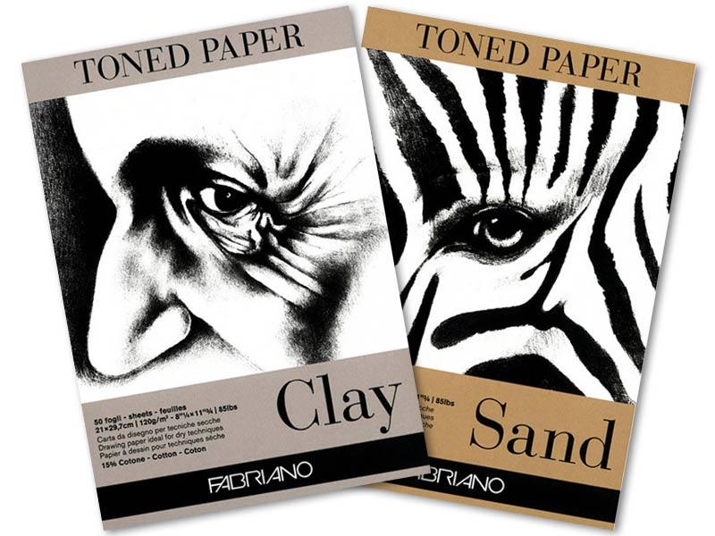 Альбом для эскизов Toned Paper Fabriano