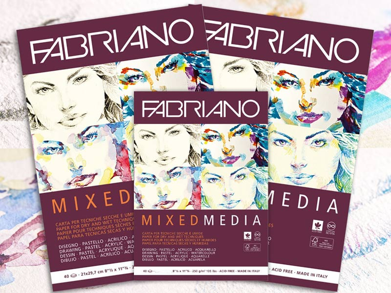 Альбомы для скетчинга Mixed Media Fabriano
