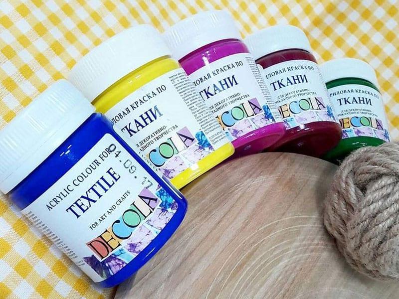 Акриловые краски по ткани Decola