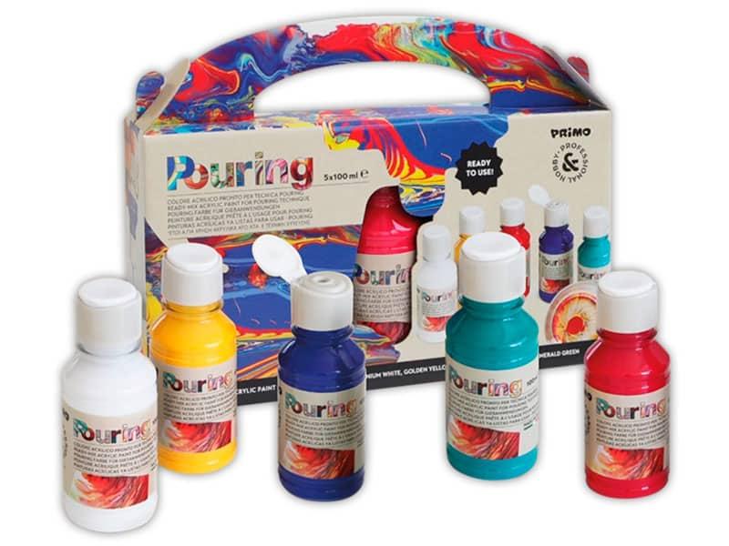 Акриловые краски с пурингом Primo