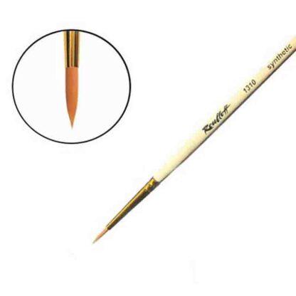 Кисточка «Roubloff» 1310 Синтетика круглая №02,5 короткая ручка рыжий ворс