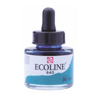 Акварельная краска жидкая Ecoline 640 Зелено-синий 30 мл с пипеткой