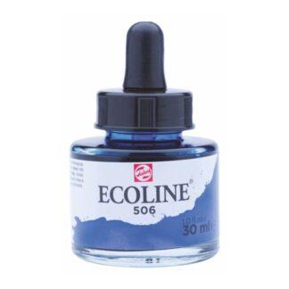 Акварельная краска жидкая Ecoline 506 Ультрамарин темный 30 мл с пипеткой