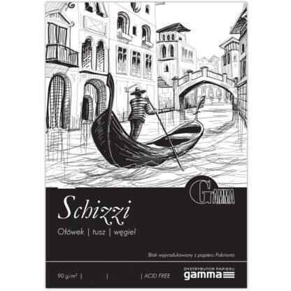 S0901421К100 Склейка для рисования Gamma Schizzi 14,8х21см 100лист 90гр / м2, проклейка