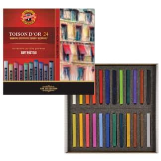 Мел-пастель Toison D`or 24 цвета Koh-i-Noor