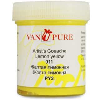 Гуашевая краска Van Pure 40 мл 011 желтая лимонная
