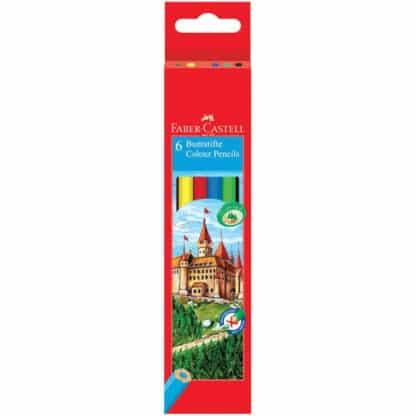 Набор цветных карандашей «Замок и рыцари» 6 цветов Faber-Castell