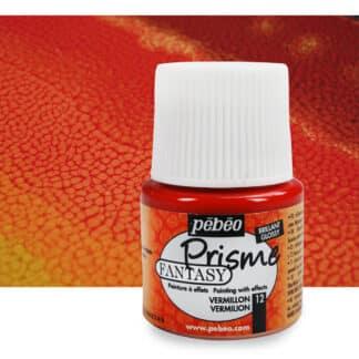 Краска лаковая Fantasy Prisme 012 Ярко-красный 45 мл Pebeo