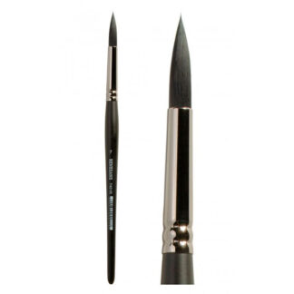 Кисточка 7401R Белка имитация круглая №09 короткая ручка Renesans