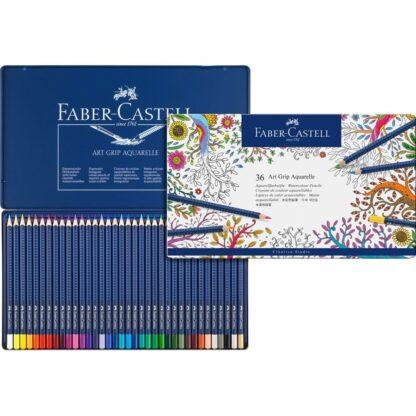 Набор акварельных карандашей Art Grip 36 штук в металлическом пенале Faber-Castell