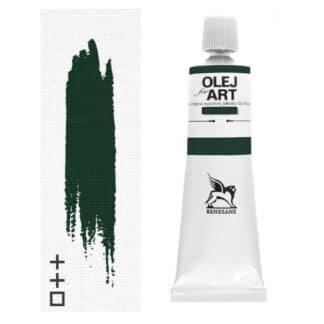Масляная краска 69 Лак зеленый темный 60 мл Renesans Польша