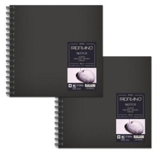 28001515 Альбом для эскизов Sketch Book 15х15 см 110 г/м.кв. 80 листов в твердом переплете на спирали Fabriano Италия