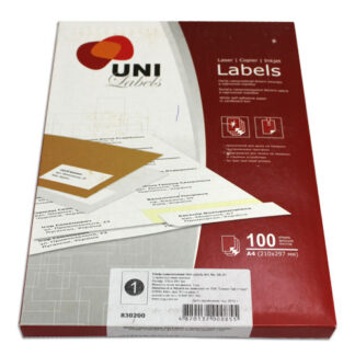 Бумага самоклеющаяся А4 (21х29,7 см) 100 листов
