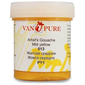 Гуашевая краска Van Pure 40 мл 013 желтая средняя